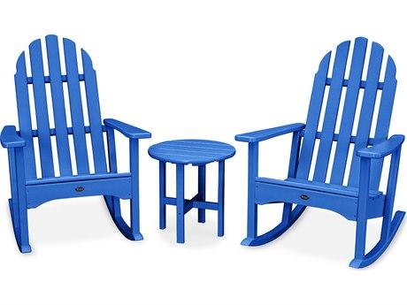 Trex® Outdoor Furniture Cape Cod 3-Piece Adirondack Rocker Set in Pacific Blue