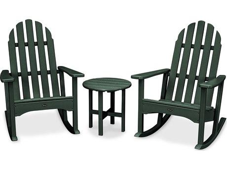 Trex® Outdoor Furniture Cape Cod 3-Piece Adirondack Rocker Set in Rainforest Canopy