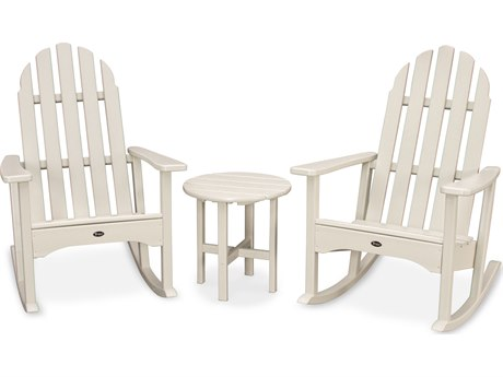 Trex® Outdoor Furniture Cape Cod 3-Piece Adirondack Rocker Set in Sand Castle