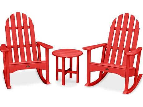 Trex® Outdoor Furniture Cape Cod 3-Piece Adirondack Rocker Set in Sunset Red