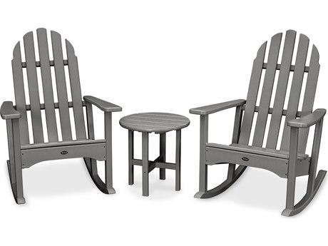 Trex® Outdoor Furniture Cape Cod 3-Piece Adirondack Rocker Set in Stepping Stone