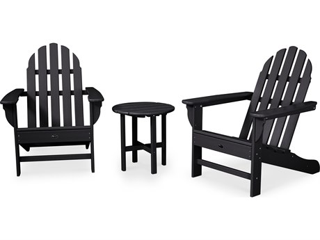 Trex® Outdoor Furniture Cape Cod 3-Piece Adirondack Set in Charcoal Black