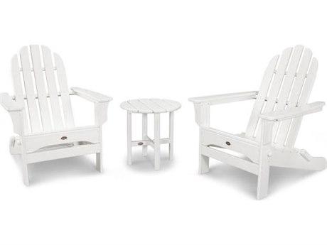 Trex® Outdoor Furniture Cape Cod 3-Piece Adirondack Set in Classic White