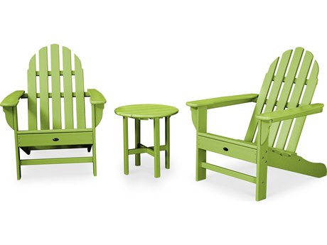 Trex® Outdoor Furniture Cape Cod 3-Piece Adirondack Set in Lime