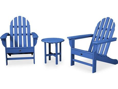 Trex® Outdoor Furniture Cape Cod 3-Piece Adirondack Set in Pacific Blue