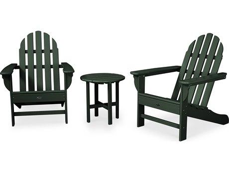 Trex® Outdoor Furniture Cape Cod 3-Piece Adirondack Set in Rainforest Canopy