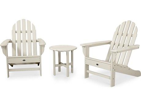 Trex® Outdoor Furniture Cape Cod 3-Piece Adirondack Set in Sand Castle