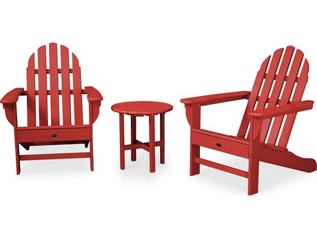 Trex® Outdoor Furniture Cape Cod 3-Piece Adirondack Set in Sunset Red