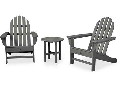 Trex® Outdoor Furniture Cape Cod 3-Piece Adirondack Set in Stepping Stone