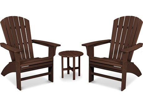 Trex Outdoor Furniture Yacht Club 3-Piece Curveback Adirondack Set in Vintage Lantern