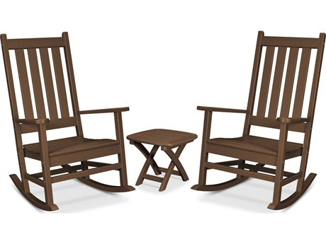 Trex Outdoor Furniture Cape Cod 3-Piece Porch Rocking Chair Set in Tree House PatioLiving