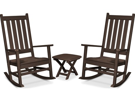 Trex Outdoor Furniture Cape Cod 3-Piece Porch Rocking Chair Set in Vintage Lantern
