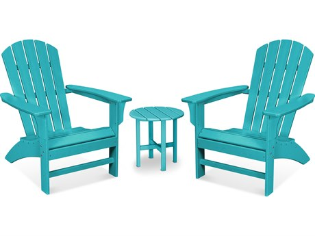 Trex Outdoor Furniture Yacht Club 3-Piece Adirondack Set in Aruba