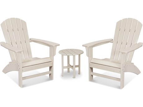 Trex Outdoor Furniture Yacht Club 3-Piece Adirondack Set in Sand Castle