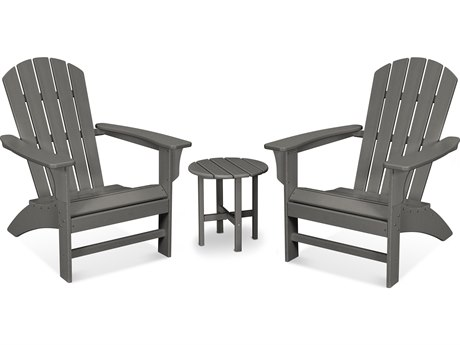 Trex Outdoor Furniture Yacht Club 3-Piece Adirondack Set in Stepping Stone