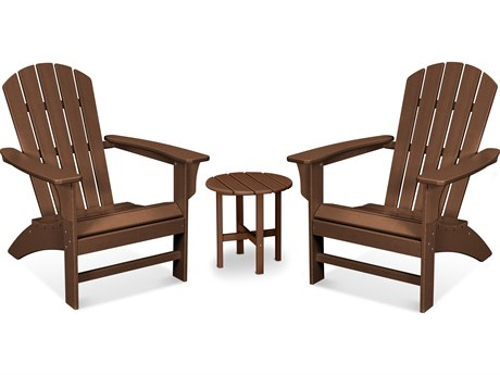 Trex Outdoor Furniture Yacht Club 3-Piece Adirondack Set in Tree House
