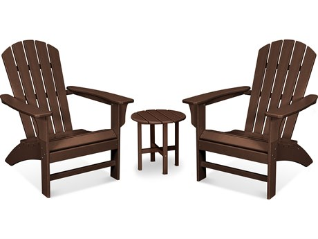 Trex Outdoor Furniture Yacht Club 3-Piece Adirondack Set in Vintage Lantern