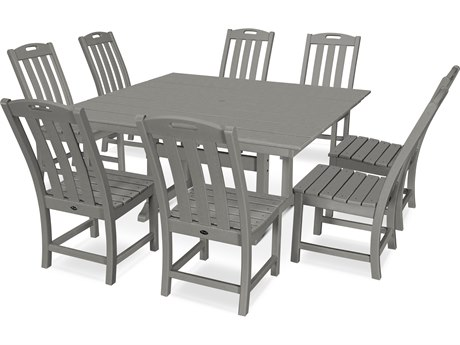 Trex Outdoor Furniture Yacht Club 9-Piece Farmhouse Dining Set in Stepping Stone