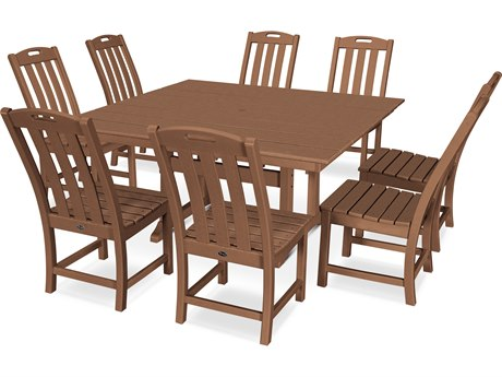 Trex Outdoor Furniture Yacht Club 9-Piece Farmhouse Dining Set in Tree House