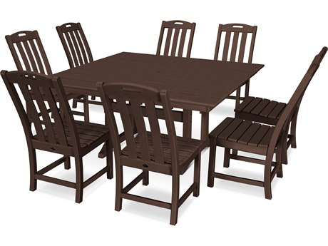 Trex Outdoor Furniture Yacht Club 9-Piece Farmhouse Dining Set in Vintage Lantern