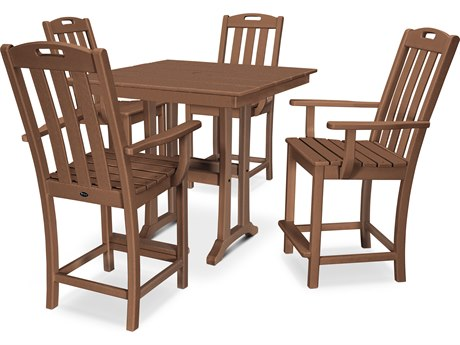 Trex Outdoor Furniture Yacht Club 5-Piece Farmhouse Counter Set in Tree House