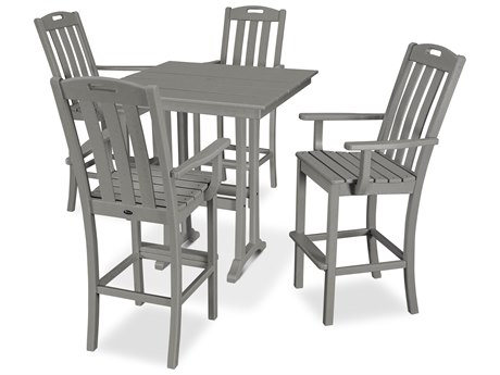 Trex Outdoor Furniture Yacht Club 5-Piece Farmhouse Bar Set in Stepping Stone