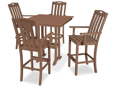Trex Outdoor Furniture Yacht Club 5-Piece Farmhouse Bar Set in Tree House