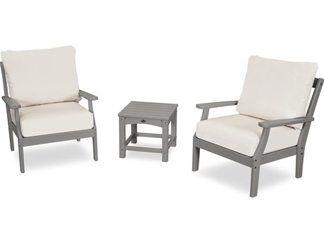 Trex Outdoor Furniture Yacht Club 3-Piece Deep Seating Set in Stepping Stone