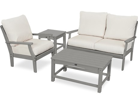 Trex Outdoor Furniture Yacht Club 4-Piece Deep Seating Set in Stepping Stone