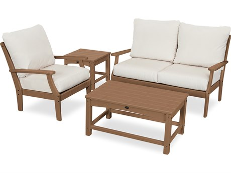 Trex Outdoor Furniture Yacht Club 4-Piece Deep Seating Set in Tree House