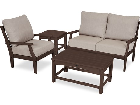 Trex Outdoor Furniture Yacht Club 4-Piece Deep Seating Set in Vintage Lantern / Cast Ash