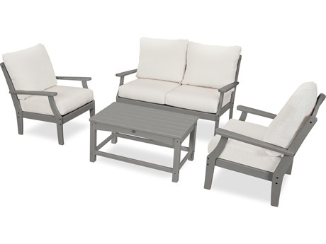 Trex Outdoor Furniture Yacht Club 4-Piece Deep Seating Chair Set in Stepping Stone