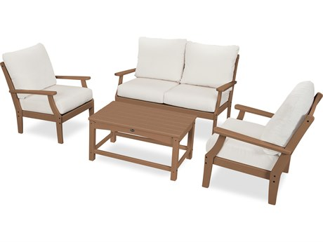 Trex Outdoor Furniture Yacht Club 4-Piece Deep Seating Chair Set in Tree House