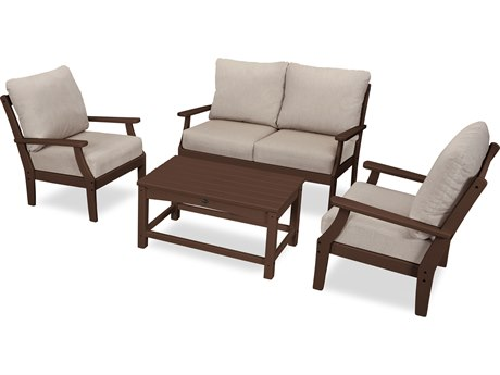 Trex Outdoor Furniture Yacht Club 4-Piece Deep Seating Chair Set in Vintage Lantern / Cast Ash