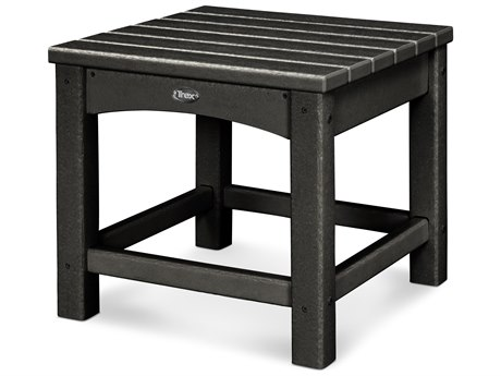 Trex® Outdoor Furniture Rockport Club 18'' Side Table in Charcoal Black TRXTXT1818CB
