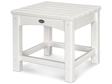 Trex® Outdoor Furniture Rockport Club 18'' Side Table in Classic White TRXTXT1818CW