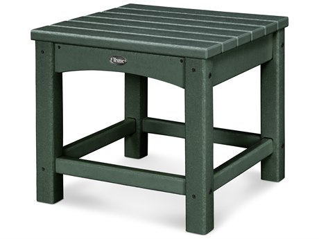 Trex® Outdoor Furniture Rockport Club 18'' Side Table in Rainforest Canopy TRXTXT1818RC
