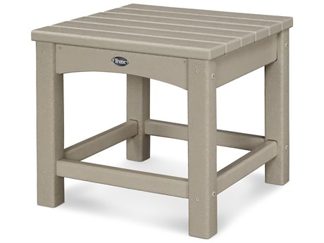Trex® Outdoor Furniture Rockport Club 18'' Side Table in Sand Castle TRXTXT1818SC
