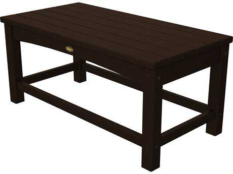 Trex® Rockport Recycled Plastic Club 35.50 x 17.75 Rectangular Coffee Table TRXTXT1836