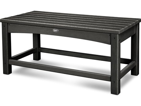 Trex® Outdoor Furniture Rockport Club Coffee Table in Charcoal Black TRXTXT1836CB