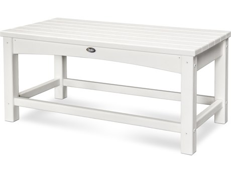 Trex® Outdoor Furniture Rockport Club Coffee Table in Classic White TRXTXT1836CW