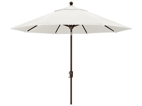 Trex Outdoor Furniture 9' Push Button Tilt Umbrella with Bronze Base in Bird's Eye