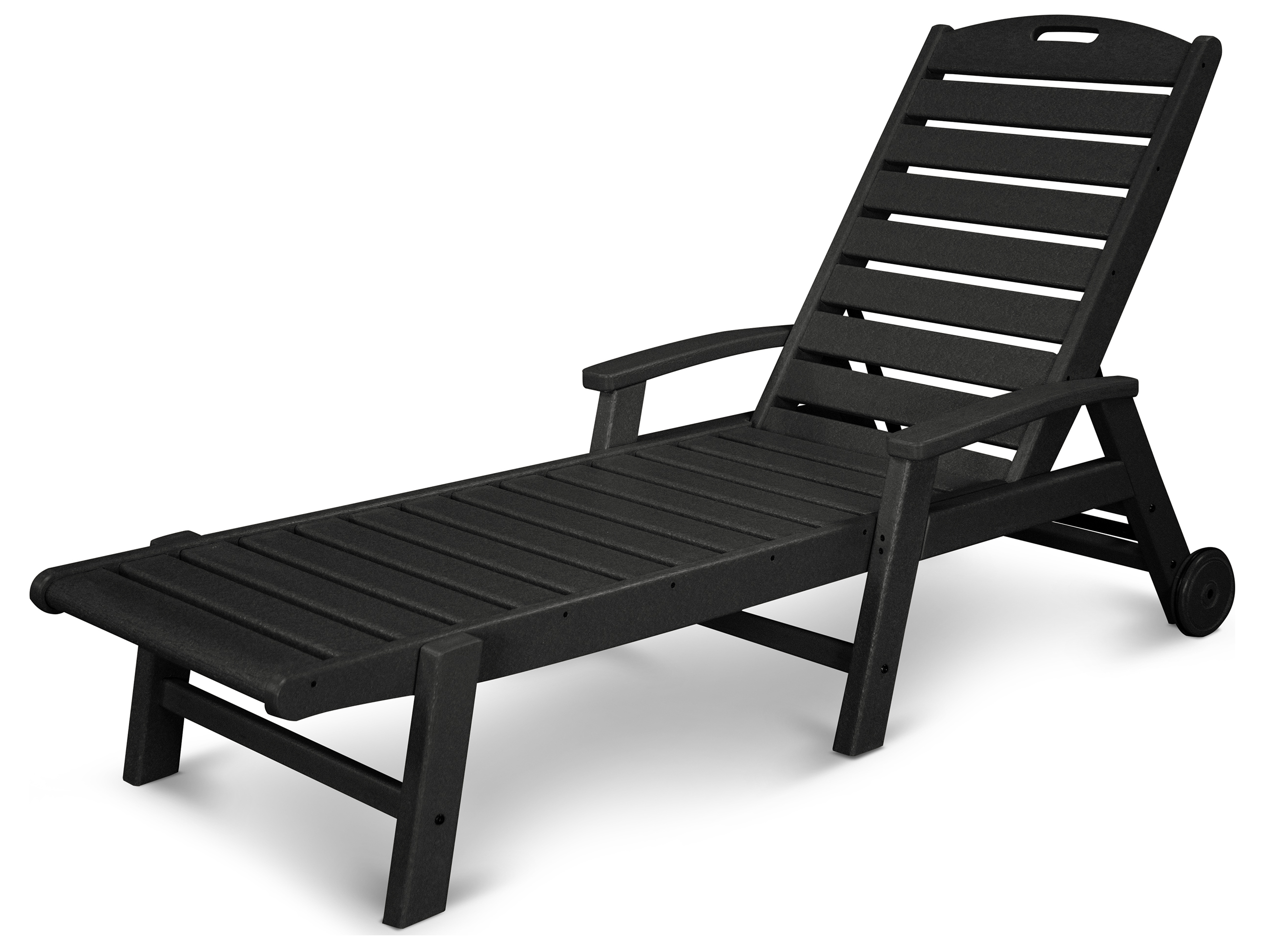 trex yacht club recycled plastic wheeled chaise trxtxw2280. Black Bedroom Furniture Sets. Home Design Ideas