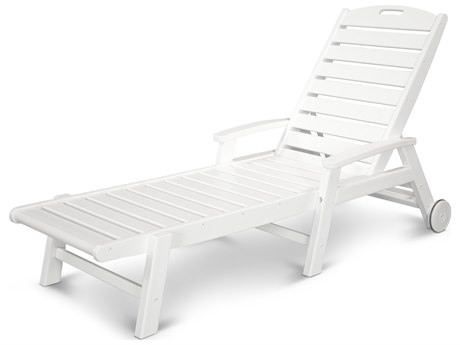 Trex® Outdoor Furniture Yacht Club Wheeled Chaise in Classic White