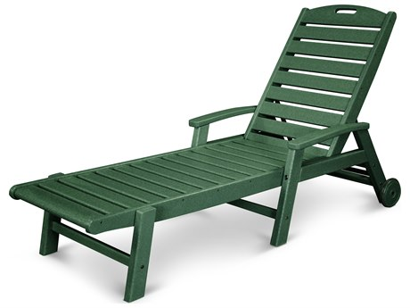 Trex® Outdoor Furniture Yacht Club Wheeled Chaise in Rainforest Canopy