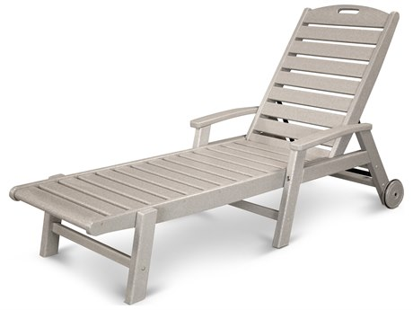 Trex® Outdoor Furniture Yacht Club Wheeled Chaise in Sand Castle