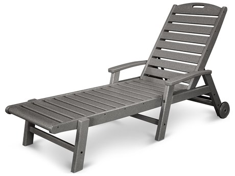 Trex® Outdoor Furniture Yacht Club Wheeled Chaise in Stepping Stone