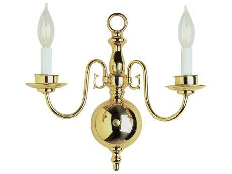 Trans Globe Lighting Mission Indoor Polished Brass Two-Light Wall Sconce