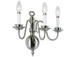 Trans Globe Lighting Mission Indoor Brushed Nickel Three-Light Wall Sconce