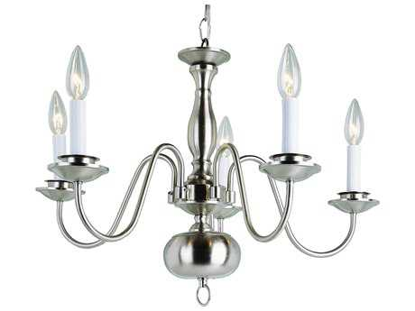 Trans Globe Lighting Mission Indoor Brushed Nickel Five-Light 22 Wide Mini Chandelier